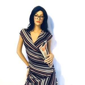 Striped DVF dress